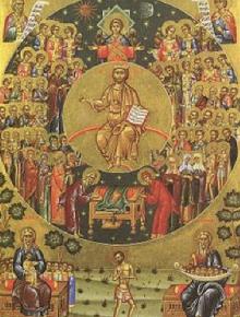 Полагането на честния пояс на Пресвета Богородица