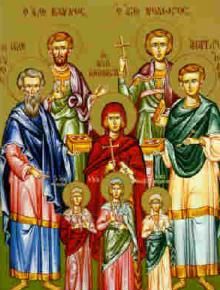 Св. безсребърници и чудотворци Кир и Йоан