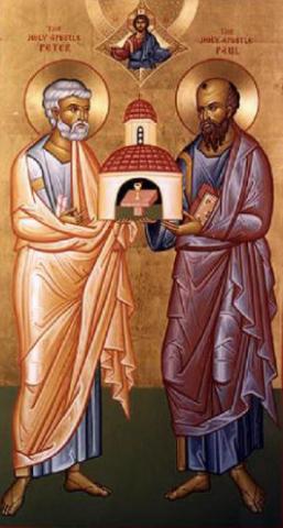 Св.славни и прехвални апостоли Петър и Павел (Петровден)