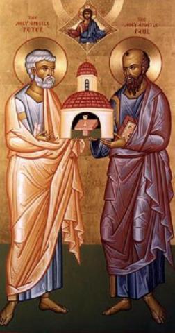 Св. първовърховни апостоли Петър и Павел (Петровден)